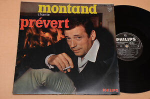 IVES-MONTAND-LP-CHANTE-PREVERT-1-ST-ORIG-1969-LAMINATED-AUDIOFILI-EX-CONDITION
