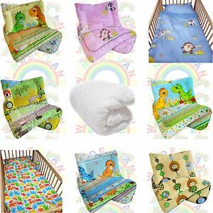 cot-DUVET-4-5-TOG-bedding-set-QUILT-PILLOW-2-PIECE-baby-BED-FITTED-SHEET