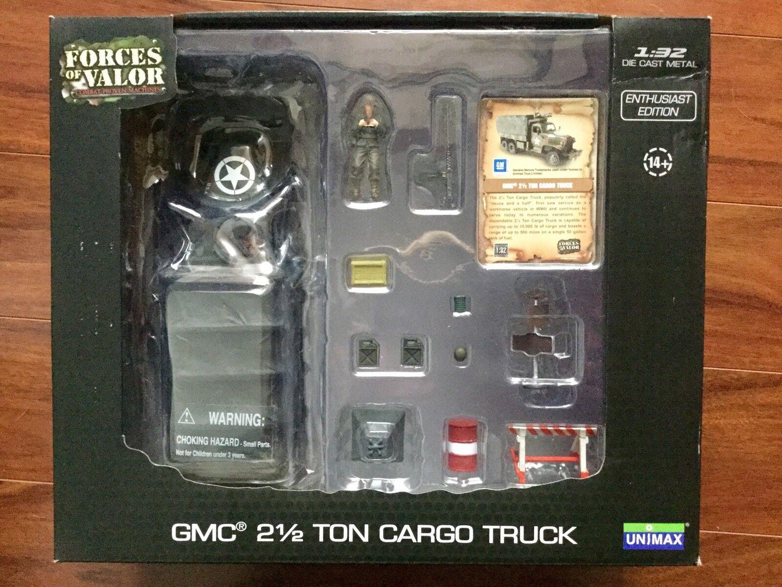 Forces of Valor 1 32 WW II  U.S. Army GMC 2-1 2 Ton Cargo Truck Item   80085 F S