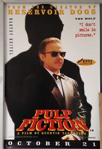 Cinema Poster Pulp Fiction 1994 Wolf Character Mini One Sheet Harvey Keitel Ebay