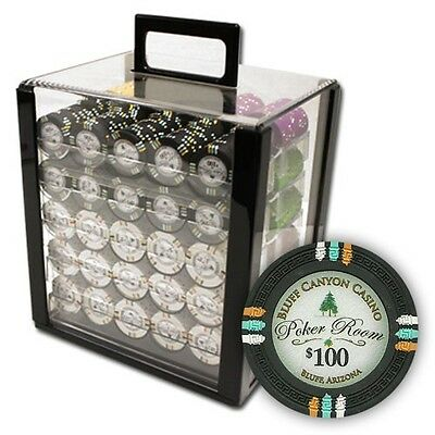 New 1000 Desert Heat 13.5g Clay Poker Chips Set with Rolling Case Pick Chips!