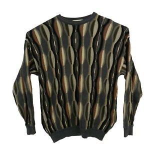 VTG-St-Croix-Funky-Multicolor-Baumwolle-Seide-COOGI-Style-Bill-Cosby-Pulli-Pullover-L