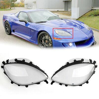 For Chevrolet C6 Corvette 2005-2013 Pair Replacement Headlight Lens Cover Gasket