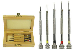 Screwdriver-Set-5-Jewelers-Watch-Jewelry-Eyeglass-Repair-Tools-Precision-Micro