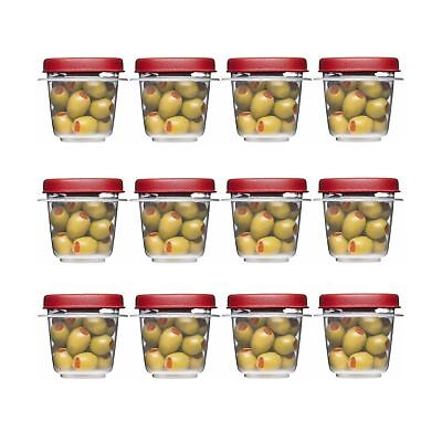 Rubbermaid Easy Find Lids Square 1//2-cup Food Storage Container Pack of 12 Cups