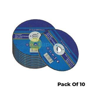10-Pack-75mm-X-1-6mm-Metal-Cutting-Cut-Off-Discs-9-5mm-Bore-High-Quality
