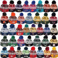 Era 2015 Nfl Retro Chill Snowflake Pom Pom Beanie Skull Cap Hat Team Colors