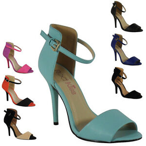 New-Womens-Ladies-Ankle-Strap-Buckle-High-Stiletto-Heel-Party-Sandals-Shoes-Size