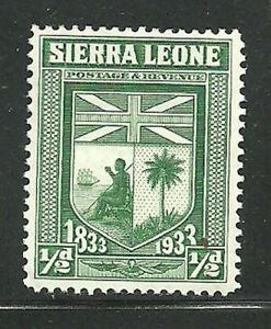 Album-Treasures-Sierra-Leone-Scott-153-1-2p-Arms-of-Sierra-Leone-MLH
