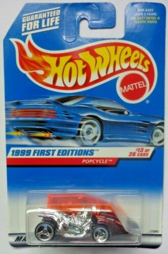 1999 Hot Wheels First Edition Popcycle 13//26 Burgandy Version