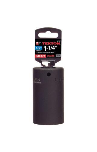 Cr-V 6-Point TEKTON 47797 1//2 pouces lecteur par 1-1//4 pouces Deep Impact Socket