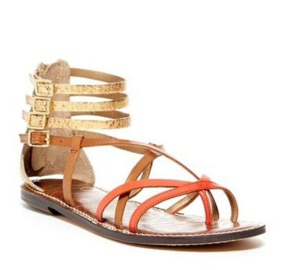 SAM EDELMAN Gable Thong Gladiator Ankle  Multi Strap Sandal scarpe NIB NUOVO 7.5 M  bellissima