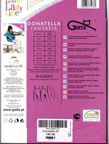 COMUNIONE ragazza pattern-rete-COLLANT BIANCO FISSO Fiori Ragazza Taglia 116-146