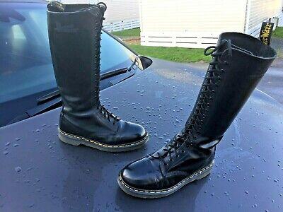 VINTAGE DR MARTENS 1420 black leather boots UK 4 Made in