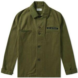 Bad 50 Militare Saint Uomo Camicia Laurent Overshirt Tg Verde Lieutenant gx87q4