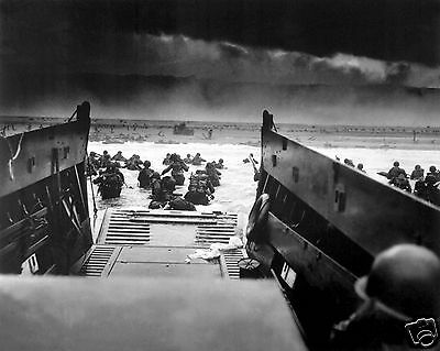 D-Day Dday 1944 Beaches Normandy Invasion World War 2 WWII 8 x 10 Photo