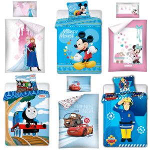 Baby Kinder Bettwäsche 100x135 Cm Frozen Minnie Mickey Winnie Pooh