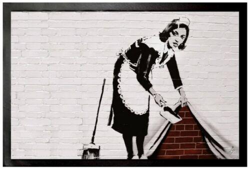 #102376 Zimmermädchen Graffiti Fußmatte Türmatte Banksy 60x40cm