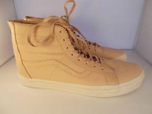 VANS-SK8-Hi-Reissue-Zip-Veggie-Tan-Leather-Skateboarding-Shoes-Men-039-s-Size-13-NIB