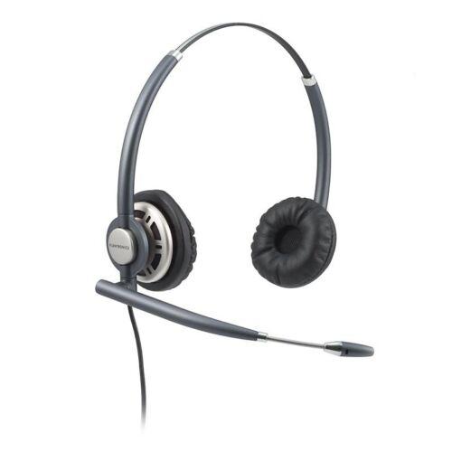 Plantronics HW720 EncorePro Binaural Black Headband Office Telephone QD Headset