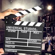 Pro Wood TV Movie Sign Director Clap Board Film Slate Cut Prop Clapper Clapboard