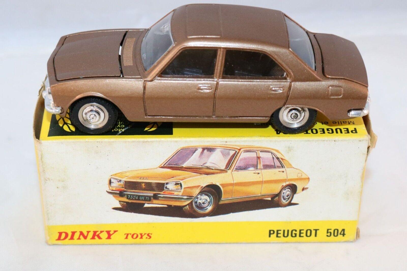 Dinky Toys 1452 Peugeot 504 bronze very near mint in box Very nice model