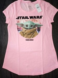 Girls-justice-short-sleeve-tee-size-8-new-pink-star-wars