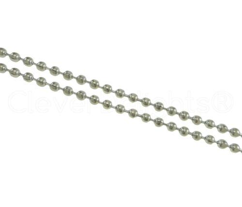 30 100 Feet Ball Chain Bulk Craft Spool 2.0mm Ball Platinum Color