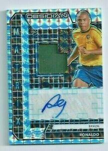 2020-21 Obsidian Soccer RONALDO True #1/1 AUTO Patch BRAZIL '02 World Cup GOAT!