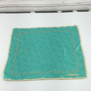 Kieselstein-Cord-vtg-100-silk-teal-Scarf-handkerchief-b14