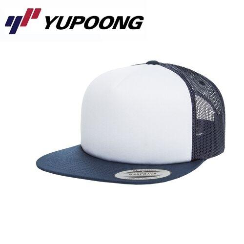 Yupoong Foam Trucker Cap UNI//Taglia Unica Bianco navyblau