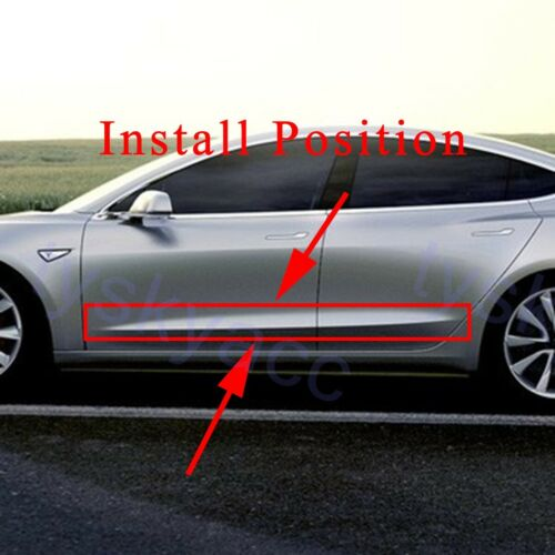 Chrome Door Side Body Molding Cover Trim For Tesla Model 3 2017-2020 Accessories