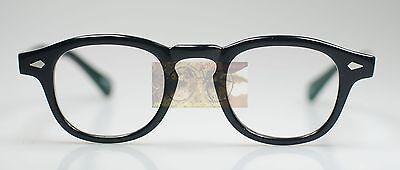 Vintage Johnny Depp eyeglasses frame mens black acetate eyewear Spectacles RX