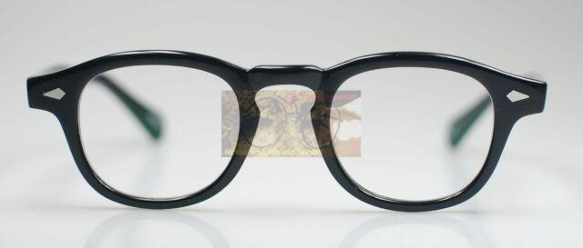 8e68671d7bc22 Retro Vintage Johnny Depp Eyeglasses frame mens black anti blue glare clear  lens