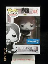 2014 Funko POP The Walking Dead AMC 145 Daryl DIXON Black White Wal Mart Excl SP