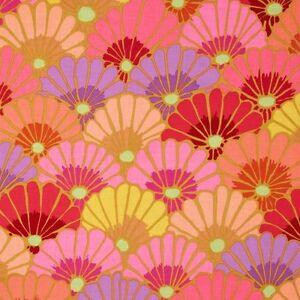 Rowan Kaffe Fassett Thousand Flowers Cotton Fabric PWGP144 Pink BTY