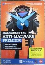 Malwarebytes Anti-Malware Premium 3.0 (3 PCs–1 Year) Sealed Retail Box