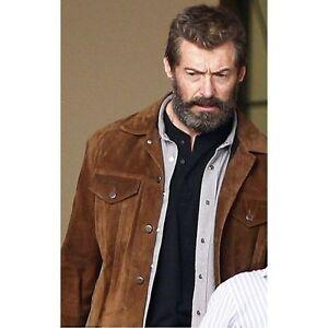 X Men 2017 Logan Wolverine 3 Hugh Jackman Brown Real Suede Leather