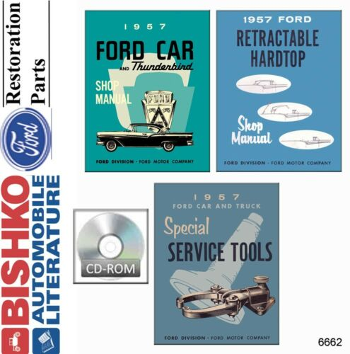 1957 Ford Shop Service Repair Manual Book CD Engine Drivetrain Electrical Guide