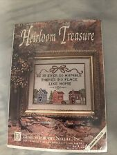 Heirloom Treasure Home #5218 cross stitch kit be it ever so humble there\u2019s no place like home