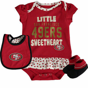 fe506424e San Francisco 49ers - 3 Piece Bodysuit set Little Sweetheart baby ...