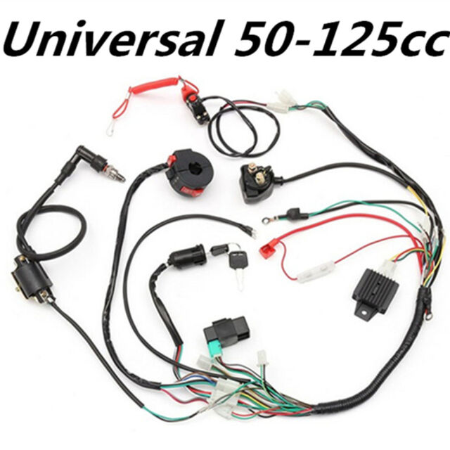 ignition wiring harness kit solenoid rectifier cdi 50 125cc atv pit rh ebay com wiring harness kit for a tpi 305 chevy wiring harness kit for a 2018 hyundai kona