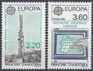 Europe Self-Conscious Andorra French N°369/370 Europa Transports And Communications Neuf Luxe Mnh Grade Products According To Quality Andorra