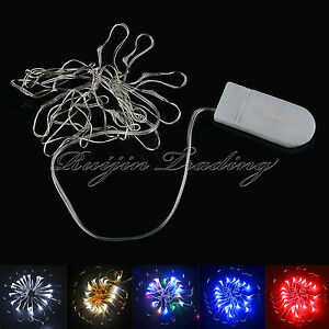 3M 30LED Button Cell Battery Powered Silver Copper Wire Fairy String Lights aua