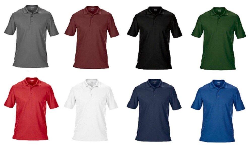 ece5901f0 5PK Gildan Men s Performance® Piqué Polo Half Sleeve Casual Top Tee ...