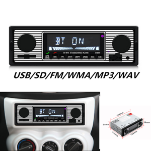 Bluetooth Vintage Car Radio MP3 Player Stereo USB AUX