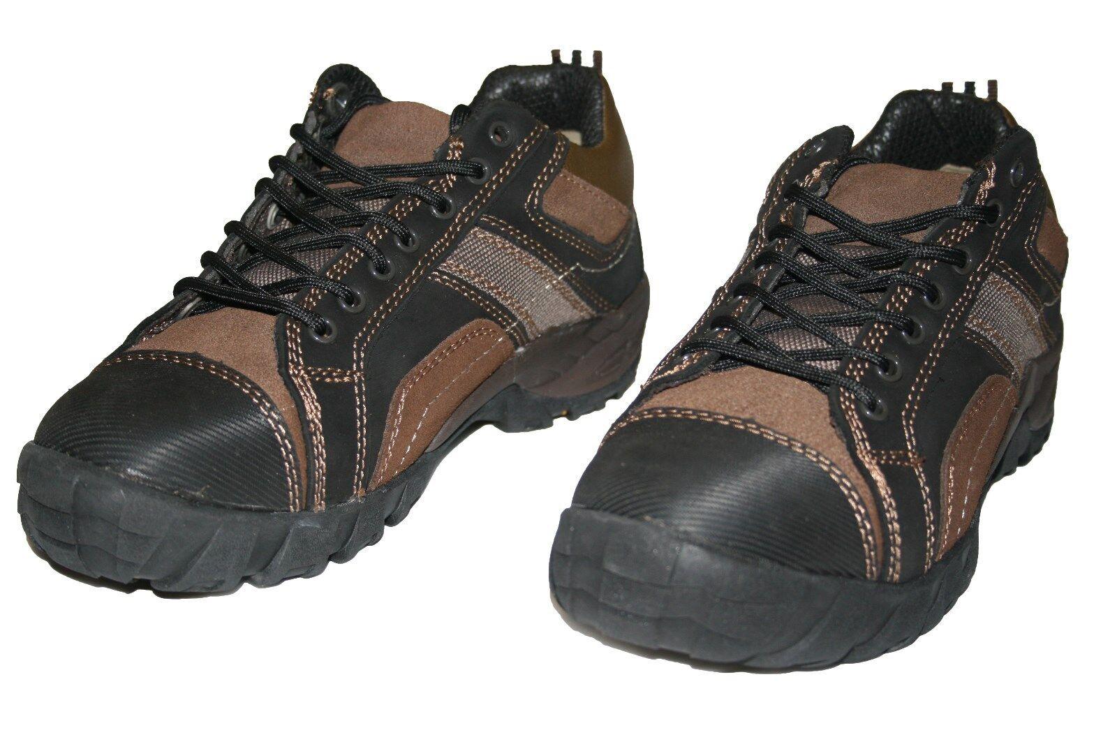 hombres zapatillas HIKING botas TWO TONE negro marrón TallaS 7 8 9 10 11 12 13