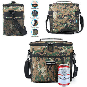 Cooler Bag Lunch Box Hot Cold Insulated Thermal Travel Food Picnic Portable Camo