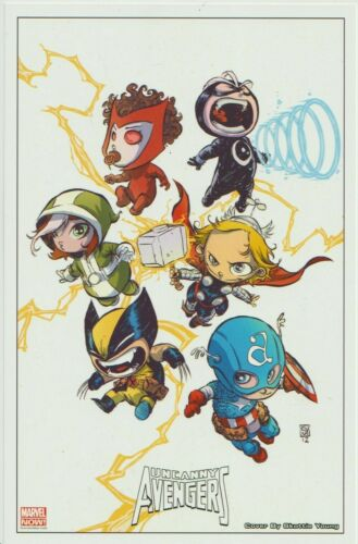 WOLVERINE THOR CAP 2012 UNCANNY AVENGERS LITHO PRINT BY SKOTTIE YOUNG MARVEL
