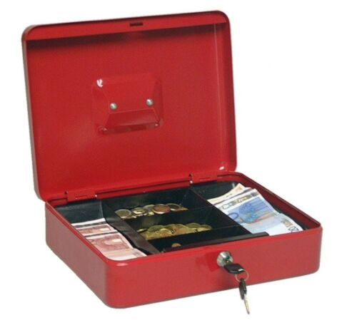 90030 Geld Wert Münz Dokumenten Kassette Tresor Spardose Geldkassette 30x25x9cm